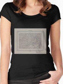 Civil War Maps 1554 Röthenbach Women's Fitted Scoop T-Shirt