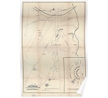 Civil War Maps 1335 Plan of Gettysburg with the battlefield of July 2nd 3rd 1863 and the National Cemetery Poster