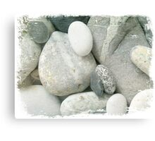 Grey Pebbles Canvas Print