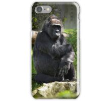 Pensive gorilla iPhone Case/Skin