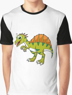 Cute illustration of a smiling Spinosaurus. Graphic T-Shirt