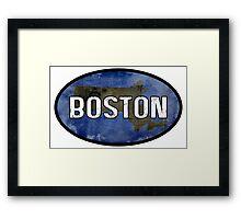 Boston Blue Framed Print