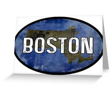 Boston Blue Greeting Card