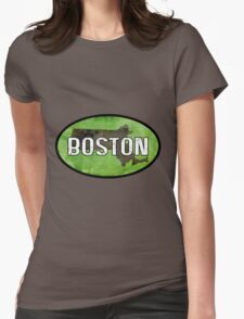 Boston Green Womens Fitted T-Shirt