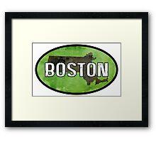Boston Green Framed Print