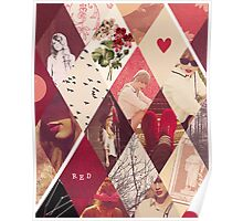 Taylor Swift Red Collage Poster