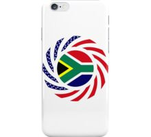South African American Multinational Patriot Flag Series iPhone Case/Skin