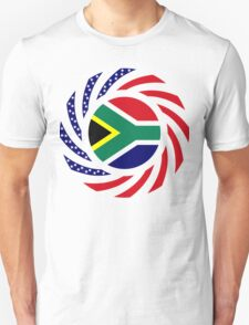 South African American Multinational Patriot Flag Series Unisex T-Shirt