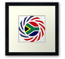 South African American Multinational Patriot Flag Series Framed Print