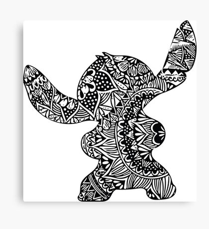 Stitch Zentangle Canvas Print