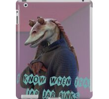 You know when that Jar Jar Blinks iPad Case/Skin