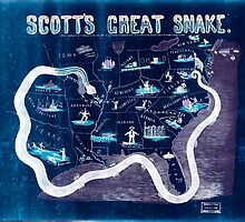 Civil War Maps 1559 Scott's great snake Entered according to Act of Congress in the year 1861 Inverted by wetdryvac