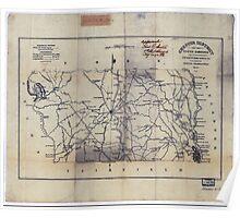 Civil War Maps 0270 Chester District South Carolina Poster
