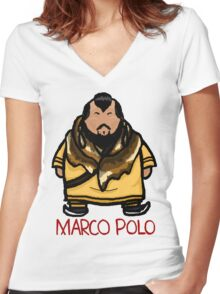 Kublai Khan - Marco Polo Women's Fitted V-Neck T-Shirt