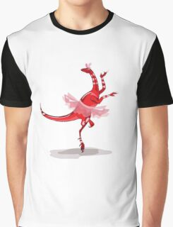 Illustration of a ballerina dancing raptor. Graphic T-Shirt