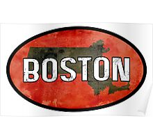 Boston Red Poster
