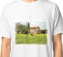 Farm and grazing cows Classic T-Shirt