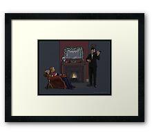 Baker Street Christmas Framed Print