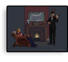 Baker Street Christmas Canvas Print