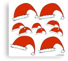Santa Hat Pattern 01 Canvas Print