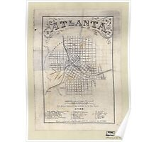 Civil War Maps 0062 Atlanta from Vincent's subdivision map published by the City Council Poster