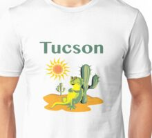 Tucson Lizard under Cactus Unisex T-Shirt