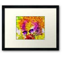Girl made of flowers Framed Print