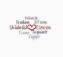 Love in 8 languages :) Unisex T-Shirt
