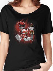 Vintage Red Ranger Women's Relaxed Fit T-Shirt