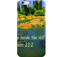 """Psalm 23:2"" iPhone Case/Skin"