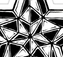 Black and White Nautical Star Sticker