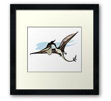Illustration of a Pteranodon dinosaur. Framed Print