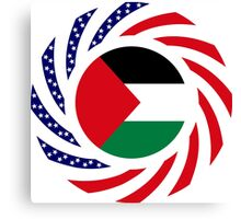 Palestinian American Multinational Patriot Flag Series Canvas Print