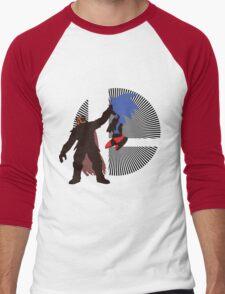 Ganondorf Clutching Sonic - Sunset Shores Men's Baseball ¾ T-Shirt