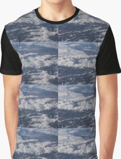Flying Over the Snow Covered Rocky Mountains Graphic T-Shirt