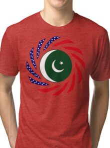 Pakistani American Multinational Patriot Flag Series Tri-blend T-Shirt