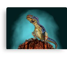 Majungasaurus, a theropod dinosaur from the Cretaceous Period. Canvas Print