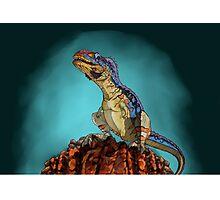 Majungasaurus, a theropod dinosaur from the Cretaceous Period. Photographic Print