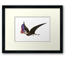 Tapejara, a genus of Brazilian pterosaur from the Cretaceous Period. Framed Print