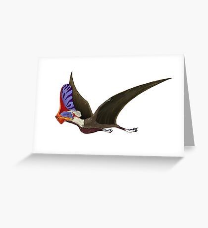 Tapejara, a genus of Brazilian pterosaur from the Cretaceous Period. Greeting Card