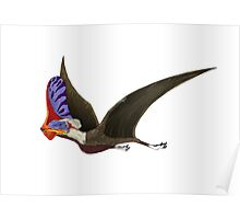 Tapejara, a genus of Brazilian pterosaur from the Cretaceous Period. Poster