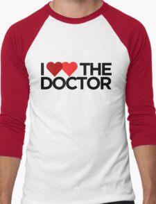 I <3 <3 The Doctor Men's Baseball ¾ T-Shirt