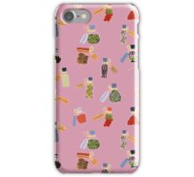 Winter Potion&Spell Ingredients (Pink) iPhone Case/Skin