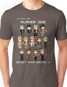 Player One, Choose Your Doctor Unisex T-Shirt
