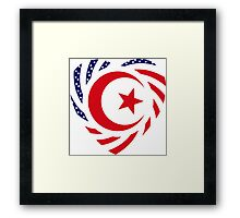 Muslim American Multinational Patriot Flag Series 2.0 Framed Print