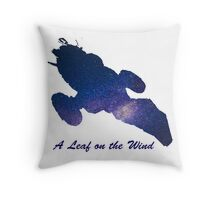 A Leaf on the Wind Throw Pillow