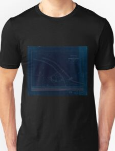 Civil War Maps 1670 Sketch plan of Columbiad Battery Fort Holt Ky opposite Cairo Ill Inverted Unisex T-Shirt