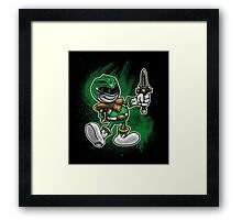 Vintage Green Ranger Framed Print