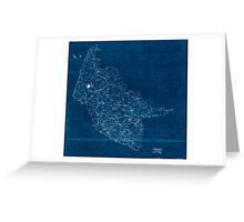 Civil War Maps 2000 Map of Hanover County Va Inverted Greeting Card