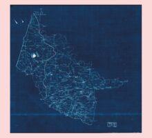Civil War Maps 2000 Map of Hanover County Va Inverted Kids Tee